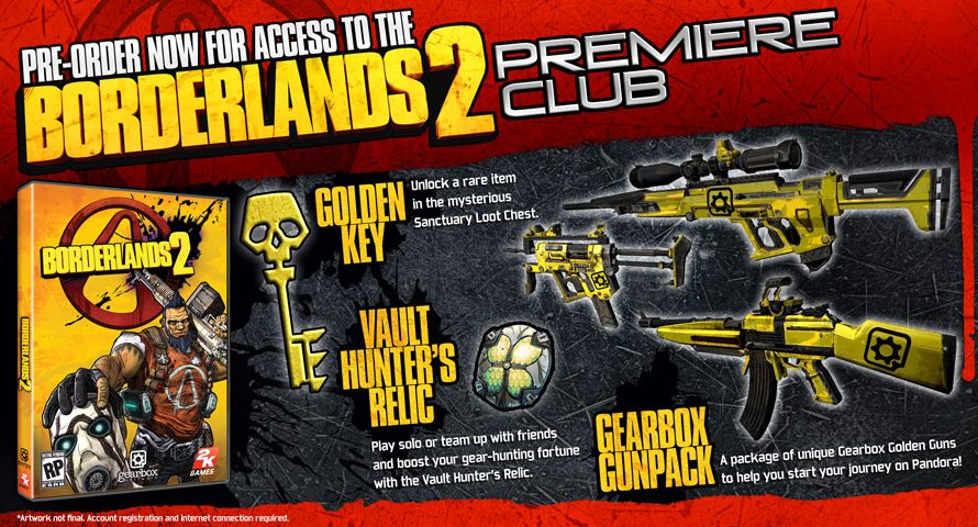 Preorder Borderlands 2 and Become a Premiere Club Member