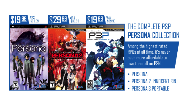 Atlus PSP Game Price Cut Event Starts Today