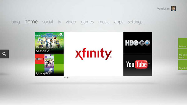 HBO Go & Comcast's Xfinity Now on Xbox Live