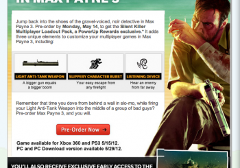 New Max Payne 3 Ability Revealed By GameStop