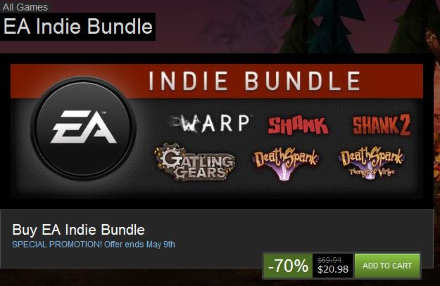 Steam Offers Huge Discount On EA Indie Games