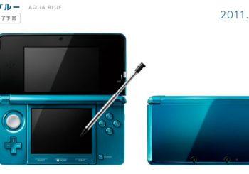 Nintendo Pulling Out the Aqua Blue Nintendo 3DS