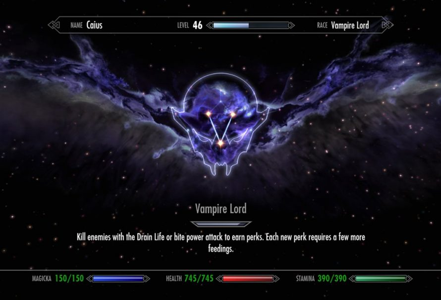 how to become a vampire lord in skyrim ps4