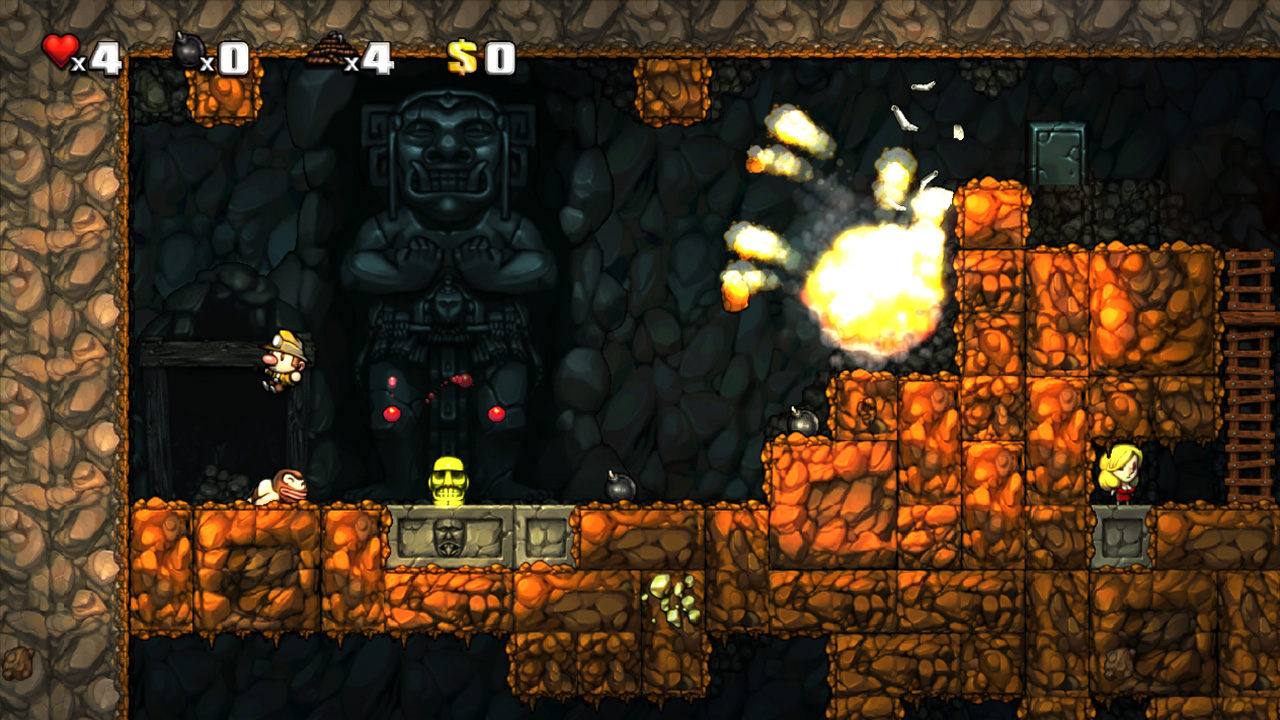 spelunky first five minutes just push start