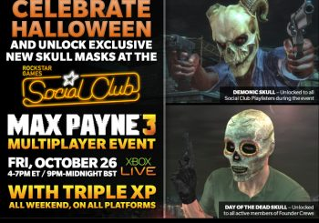 Max Payne 3 Triple XP, Exclusive Halloween Masks Weekend