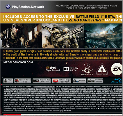 Medal of Honor: Warfighter Install Size Revealed - Just Push