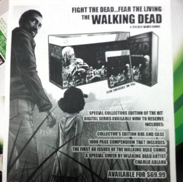 The Walking Dead: The Game Collector's Edition Outed