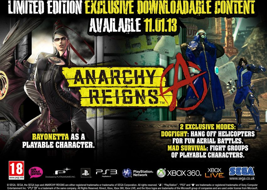 """Anarchy Reigns Gets Preorder """"Limited Edition"""" in Europe"""