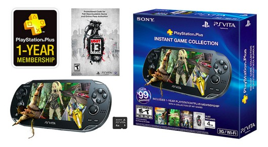 New PS Vita Bundle will include 1 year of PS Plus, Unit 13 and a 4GB card