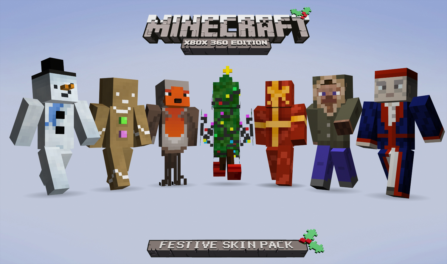Festive Skins Come To Minecraft Xbox 360 Edition - Just Push Start