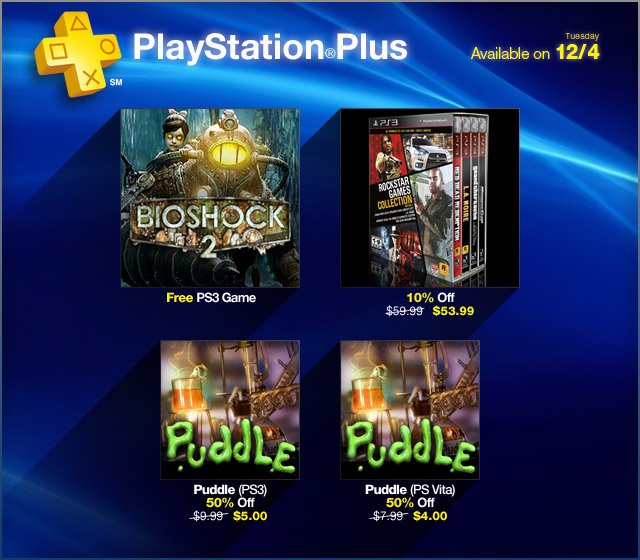 Bioshock 2 free to all PlayStation Plus subscribers
