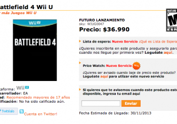 Retailer Lists Battlefield 4 And Call of Duty: Modern Warfare 4 For Wii U