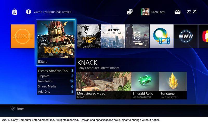 PS4 Interface Screenshots Revealed