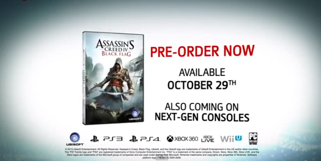 Assassin's Creed IV: Black Flag Coming To PS4 And Release Date Revealed