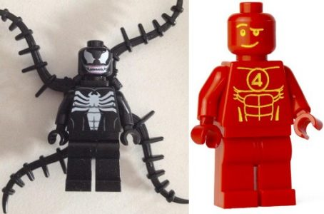 Lego Marvel Super Heroes Venom and Human Torch