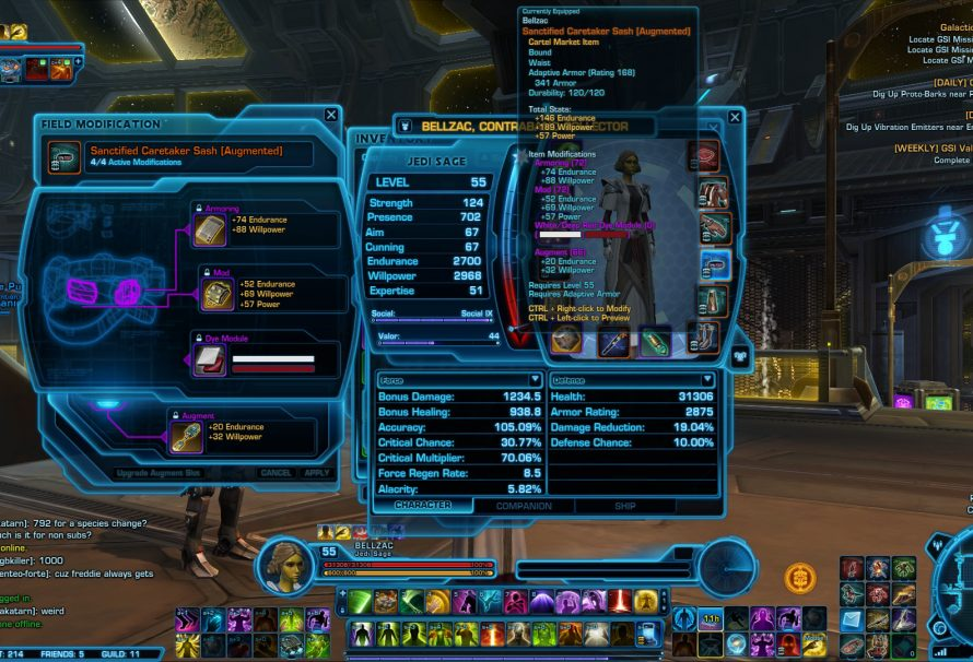 SWTOR Game Update 2.1 – Dye Modules Location