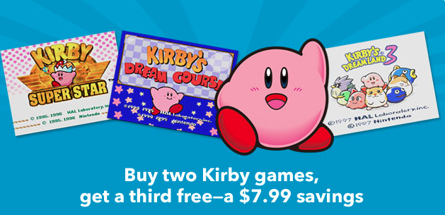 Buy 2 Kirby Titles and Get One Free On the Nintendo eShop