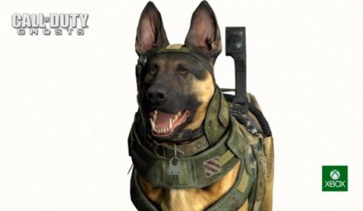 call of duty: ghosts dog kinect