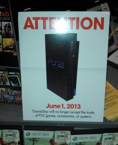 gamestop stopping playstation 2
