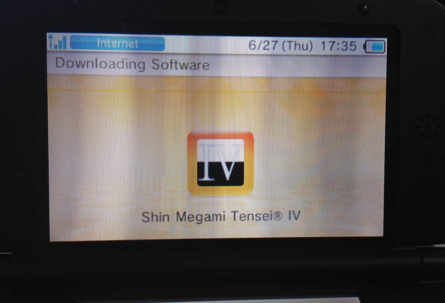 Shin Megami Tensei IV requires a big memory space for digital download
