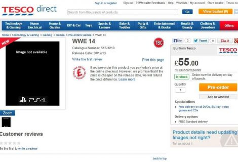 UK Retailer Lists WWE 2K14 For PS4 and Xbox One