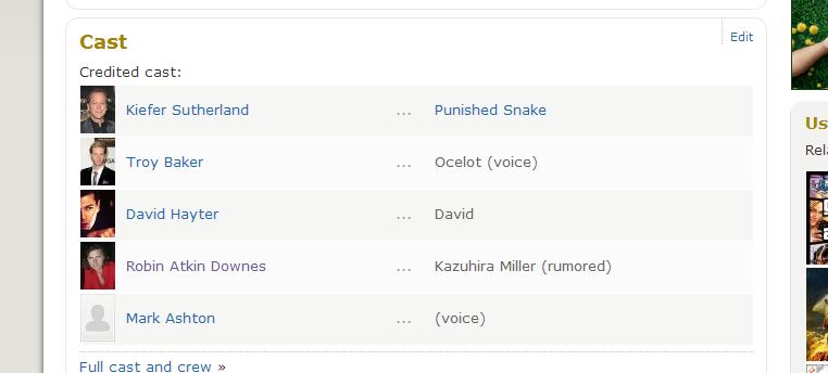 David Hayter Still Voicing In Metal Gear Solid V?