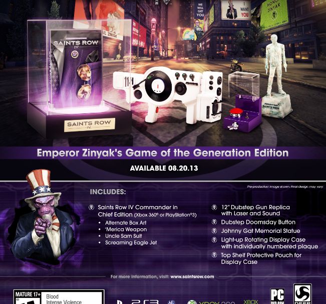 Saints Row 4 gets a very limited 'Game of the Generation' edition