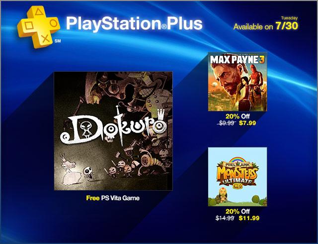 Dokuro free on PlayStation Plus; PixelJunk Monsters HD Discounted