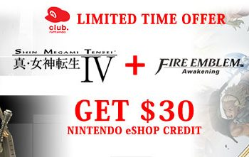 Purchase Both Shin Megami Tensei IV and Fire Emblem Awakening, Receive $30 in eShop Currency