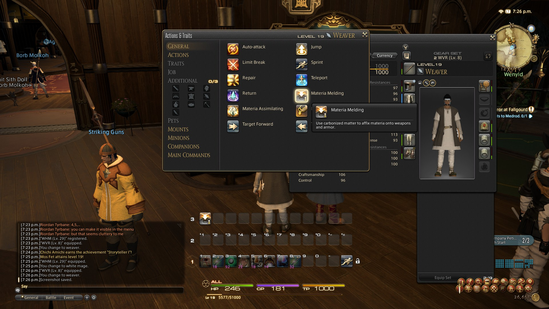 Final Fantasy XIV - Affixing Materia(s) on your Equipment