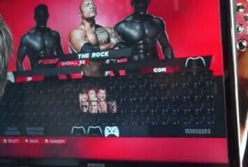 WWE 2K14 Roster Menu