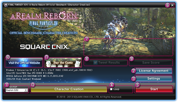 Final Fantasy XIV Character Creation Benchmark Now Available