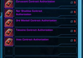 SWTOR Bounty Contract Event - Kingpin Contracts Overview
