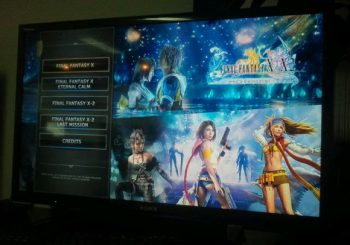 Final Fantasy X and Final Fantasy X-2 HD Menu Screenshots