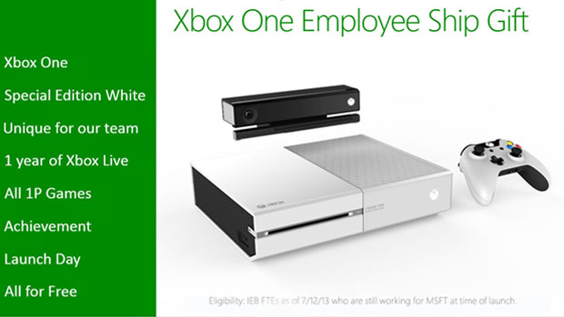 Microsoft Employees Get Ice-Cool White Xbox One Console
