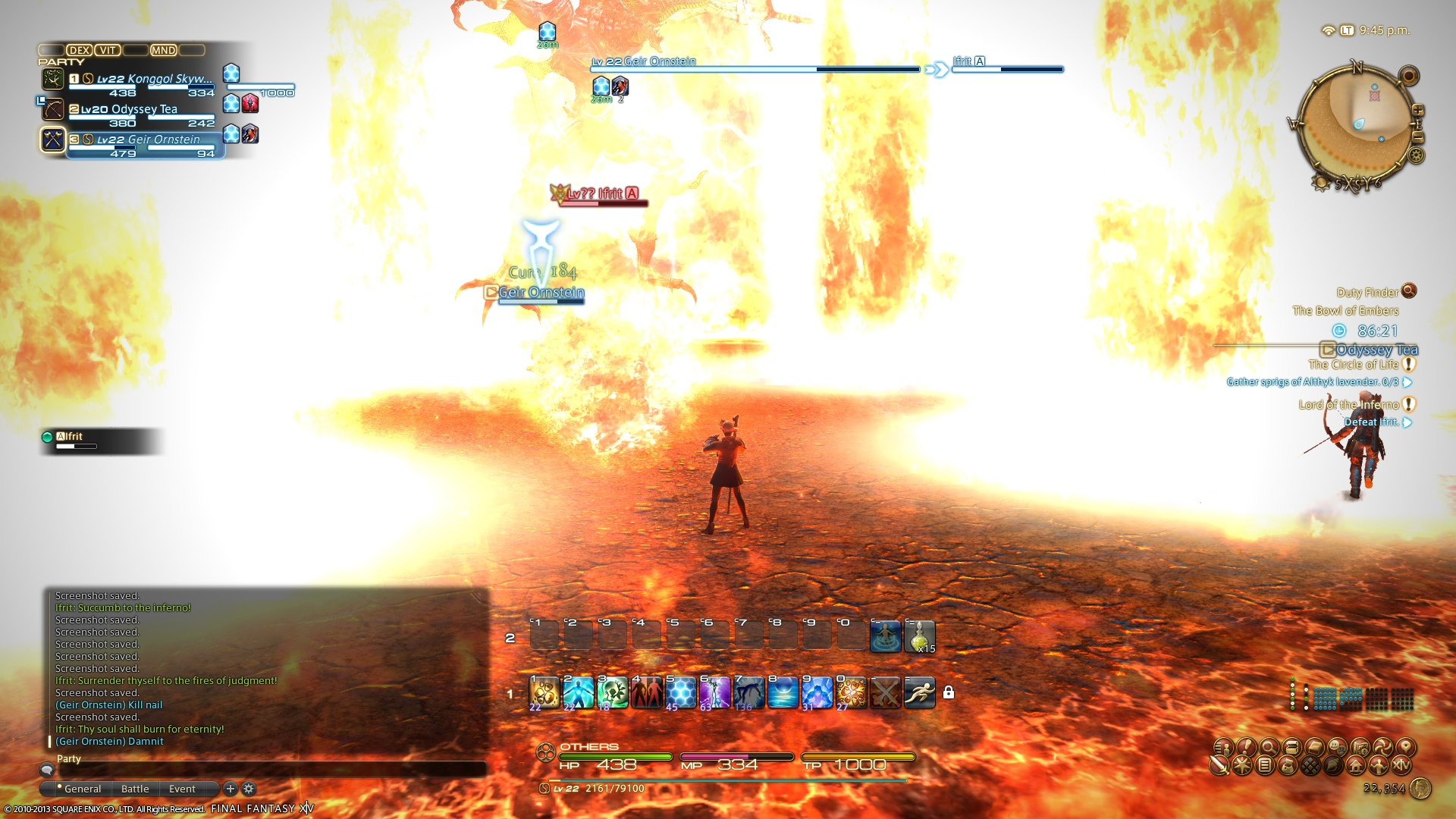 Final Fantasy XIV Primal Guide - Ifrit, the Lord of Inferno