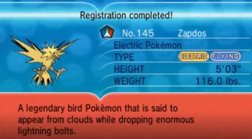 Pokemon X and Y Legendary Birds 5