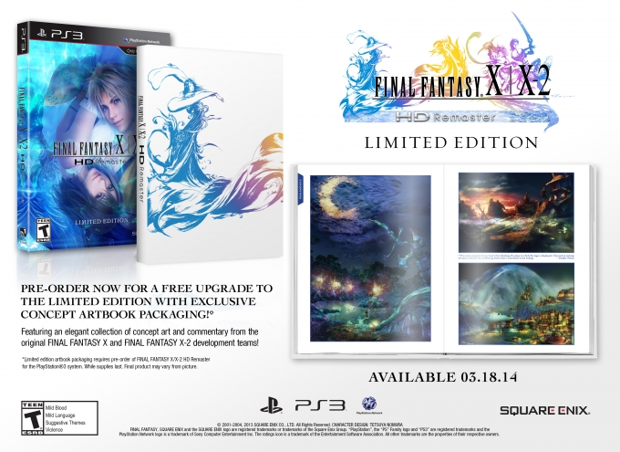 Final Fantasy X and X-2 HD on PS3 gets March release date in NA