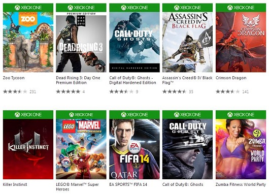 Xbox One online web store is live