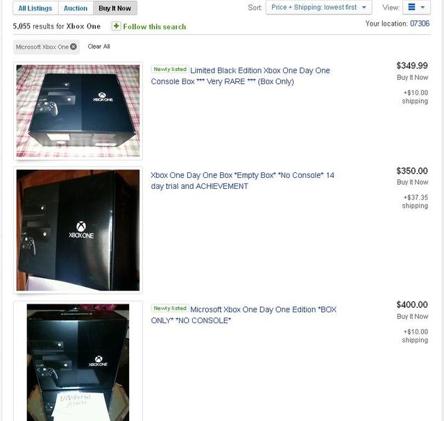 Xbox One Cardboard Boxes Selling For A High Price