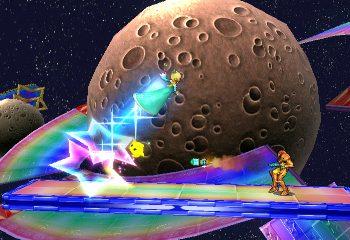 Super Smash Bros. takes a drive down Rainbow Road