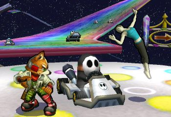 Super Smash Bros.'s Rainbow Road WIll Be Full of Driving Shy Guys