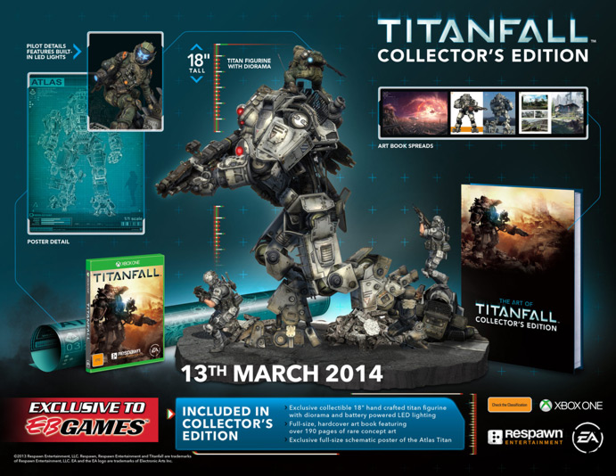 EB Games Australia To Release 300 More Titanfall Collector's Editions