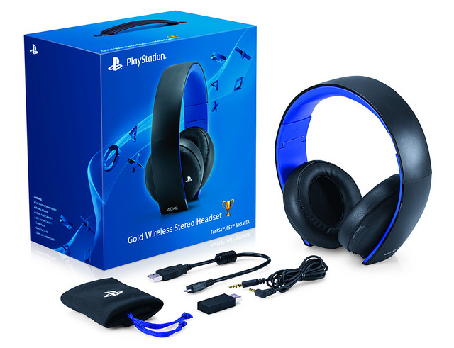 Sony Unveils The PlayStation Gold Wireless Headset