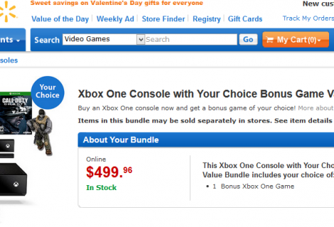 Walmart Website Is Offering Xbox One Plus Free Game Bundle for $499