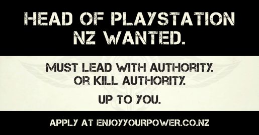 Head of PlayStation NZ wanted
