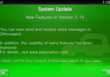 PS Vita 3.10 Firmware Update Now Available