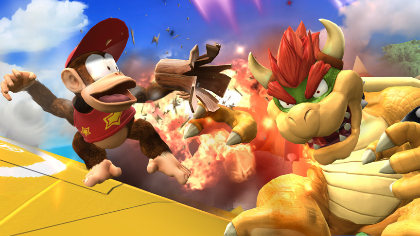 Super Smash Bros. Gives Diddy Kong A More Powerful Peanut Popgun