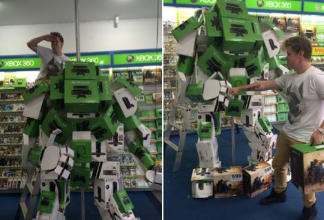Man Builds Titanfall Mech From Xbox Console Boxes