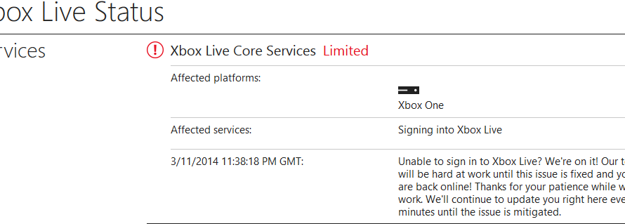 Xbox Live Is Currently Experiencing Some Issues With Sign In